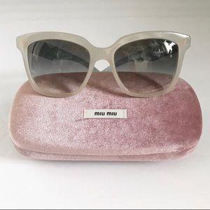 Miu Miu Crystal Rocks Pave' Aqua Ivory Sunglasses